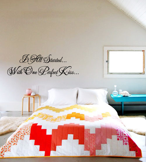 It All Started With One Perfect Kiss Wall Decal