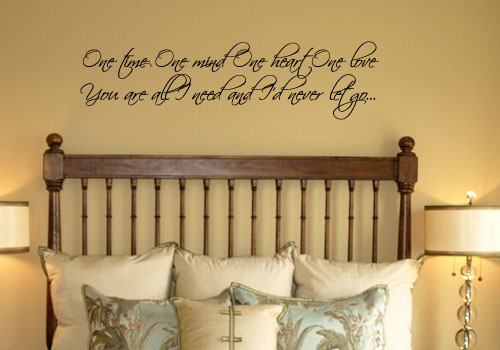 You Are All I Need Never Let Go Wall Decal
