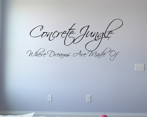 Concrete Jungle Wall Decal