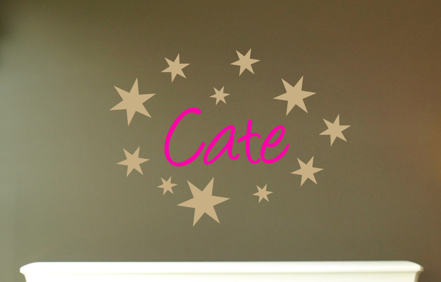 Name Star Wall Decal
