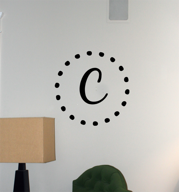 Dot Monogram | Wall Decals