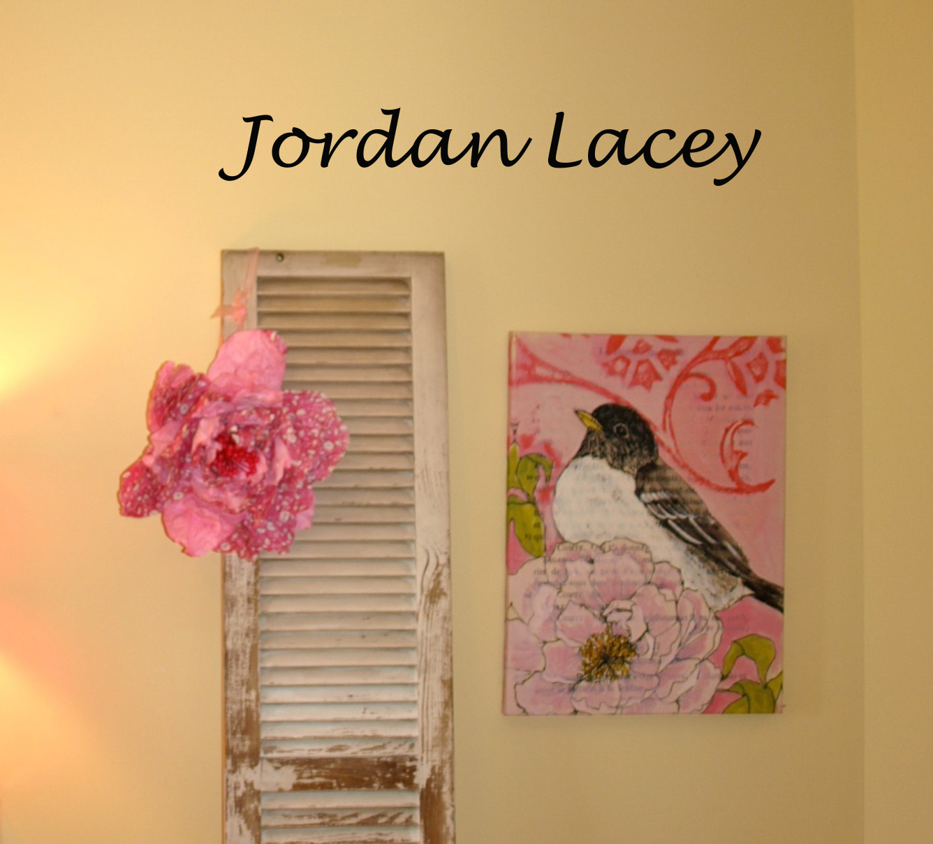 Two Name Lucida Script Wall Decal