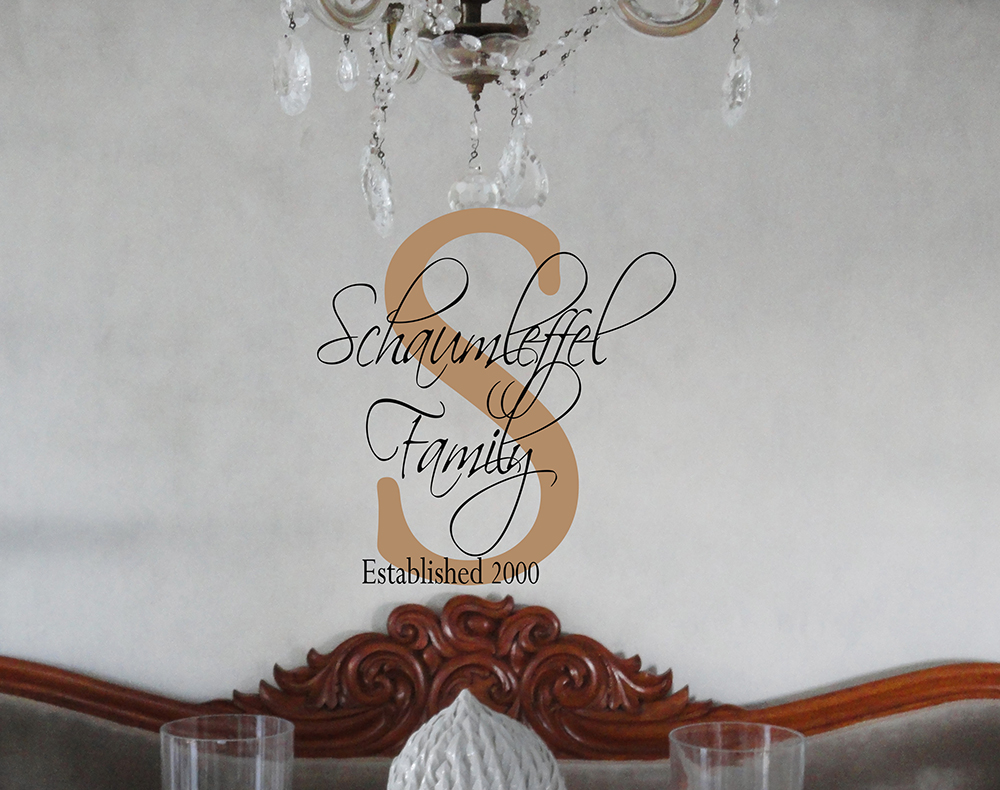 Script Family Name Est Year Wall Decal