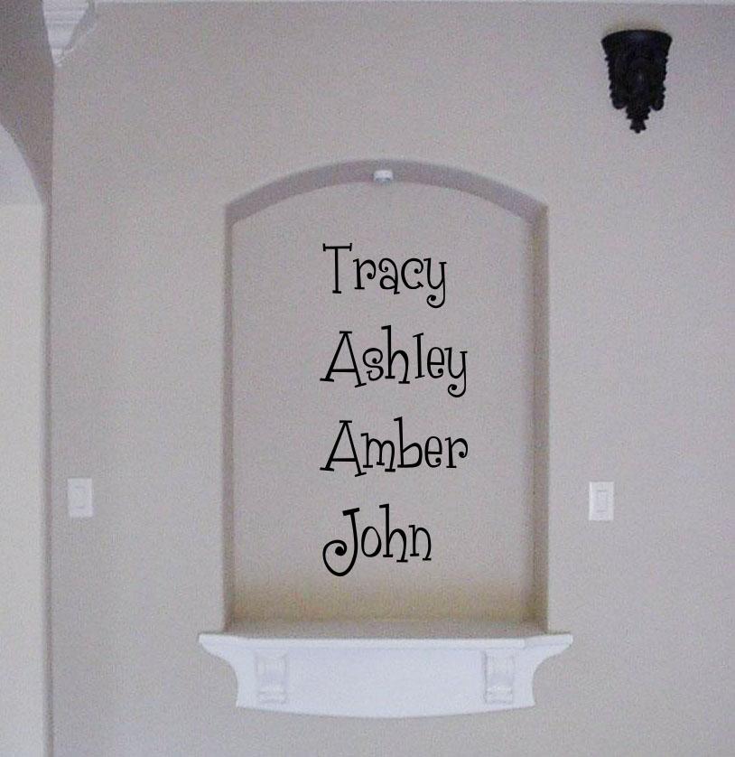 Fun Family Names Wall Decal