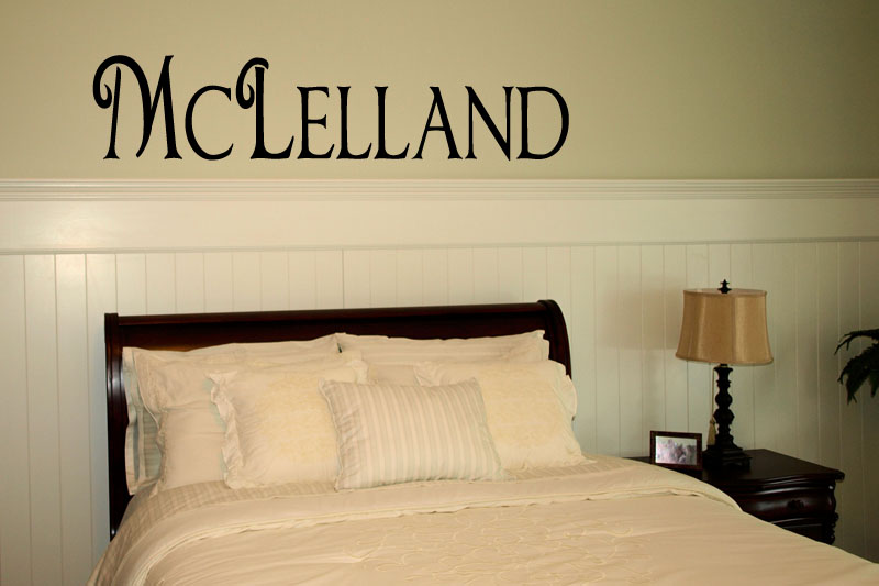Chocolate Name Wall Decal