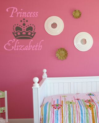Princess Monogram Wall Decal
