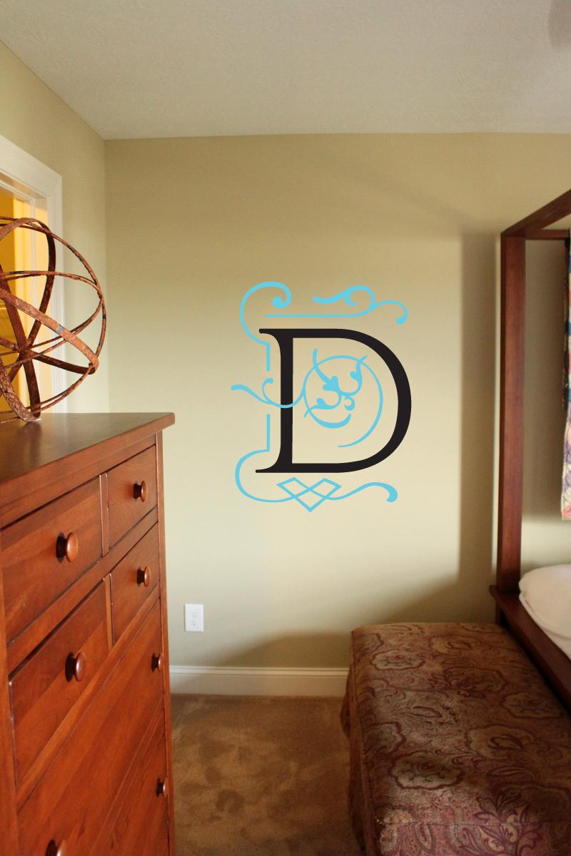 Monogram Overlay Wall Decal