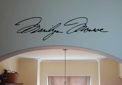 Marilyn Monroe Signature Wall Decal