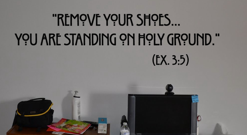 Standing On Holy Ground Wall Decal