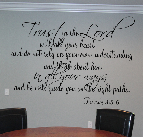 Trust In The Lord Guide You Right Path Wall Decal