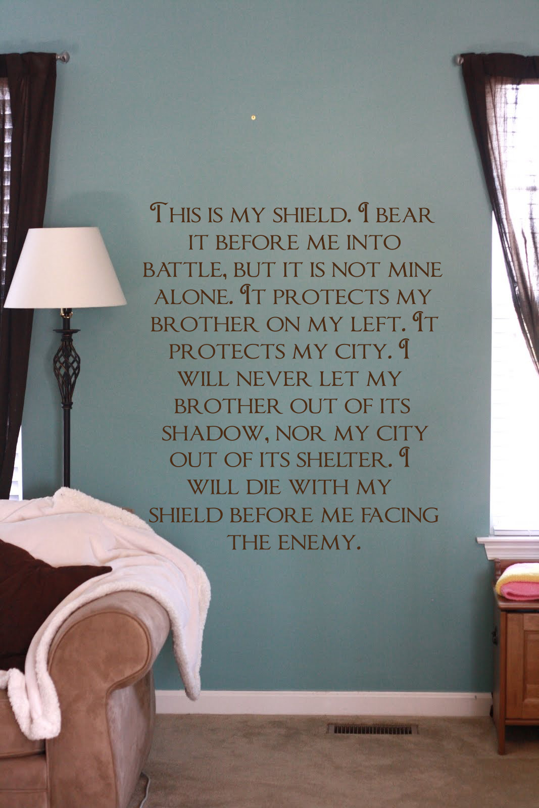 This Is My Shield Wall Decal