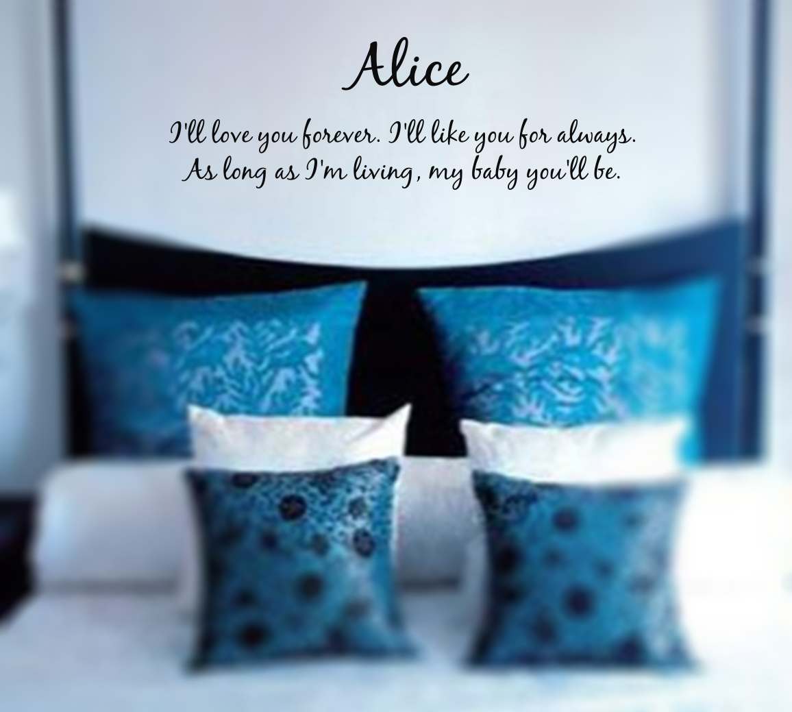 Name I'll Love You Forever Wall Decal