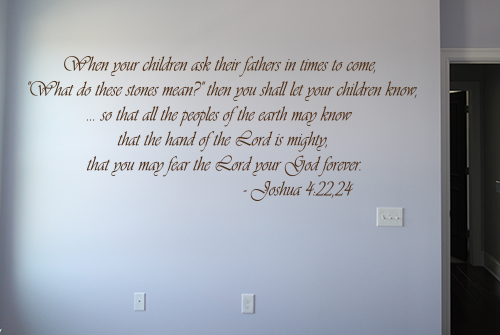 When Your Children Ask Wall Decals