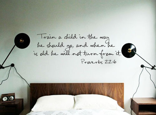 Train A Child He Will Not Turn Wall Decal