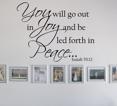 Isaiah 5512 Wall Decals
