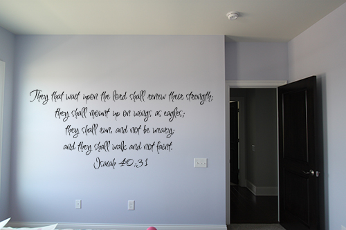 They That Wait Upon Lord Wall Decal