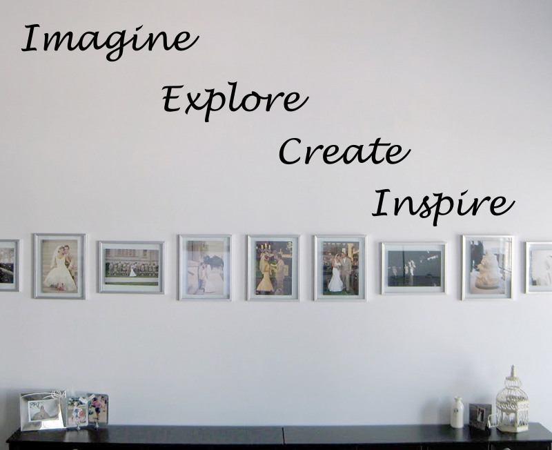 Imagine Explore Create Inspire Wall Decal