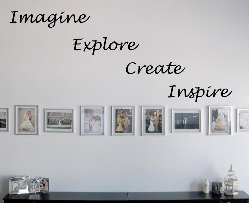 Imagine Explore Create Inspire Wall Decal