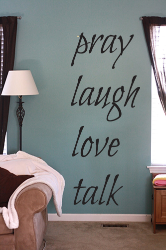 Bilbo Pray Laugh Love Talk Wall Decal