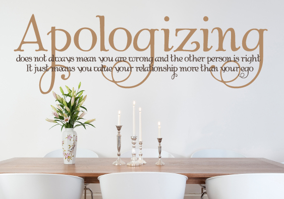 Apologizing Wall Decal