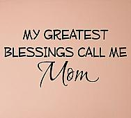 Greatest Blessings Mom Wall Decals
