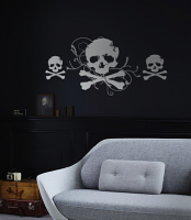 Multiple Skull and Crossbones Wall Decal