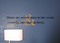 Seven Days in the Week Wall Decal
