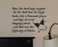 Baby Laugh Creates Fairies Wall Decal