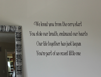 We Loved You From The Start Wall Decals