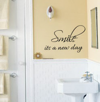 Smile It's A New Day Wall Decal