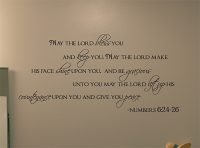 May The Lord Bless You Wall Decal