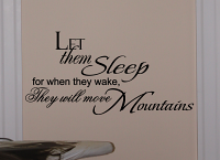 Let Them Sleep Wall Decals