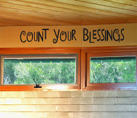 Count Your Blessings Wall Decals