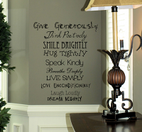 Inspiring Phrases Wall Decal