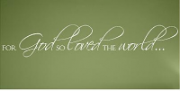 For God So Loved Wall Decal