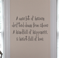 A Wee Bit Of Heaven Wall Decals