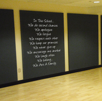 In This School Education Large Wall Decal