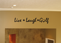 Live, Laugh, Golf Wall Decal