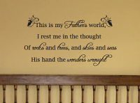 My Father's World Wall Decal