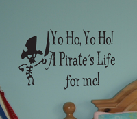 A Pirate's Life For Me Wall Decals
