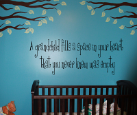 Grandchild Fills Space Heart Wall Decal