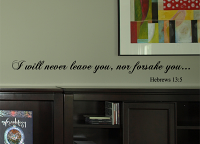 Never Leave Nor Forsake Wall Decal