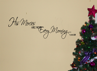 His Mercies New Every Morning Wall Decal
