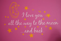 Love You To Moon And Stars Wall Decal