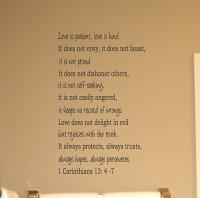 Corinthians Love Is Patient Wall Decal