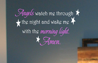 Angels Watch Wall Decal