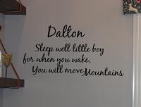 Sleep Well Move Mountains Wall Decal