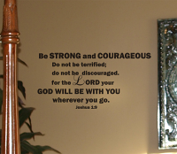 God Will Be With You Wall Decal