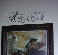 Faithfulness Wall Decal
