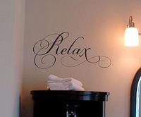 Relax Simply Words Wall Decal